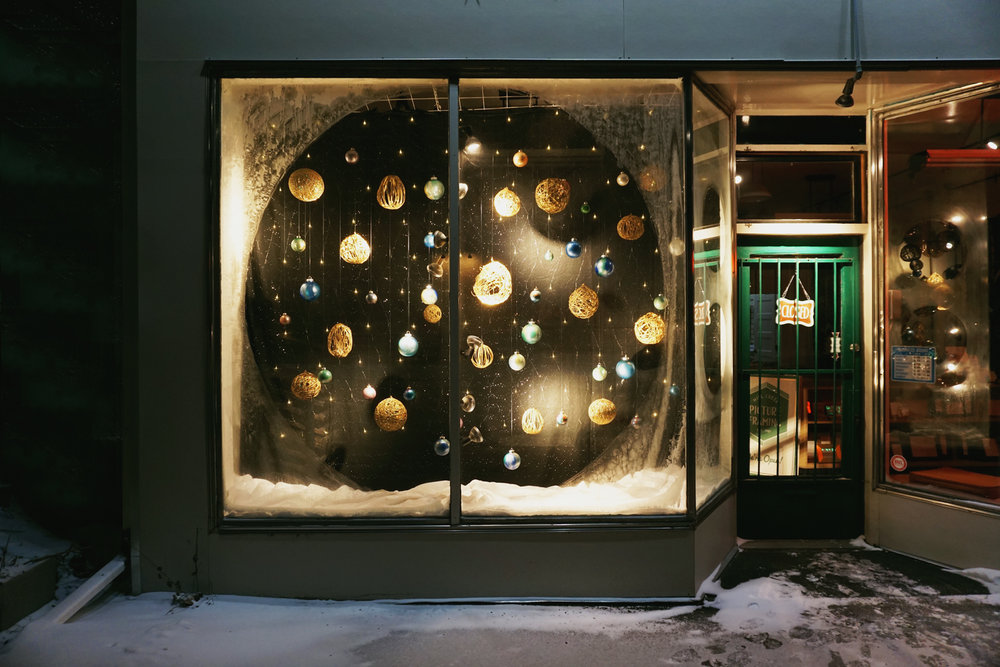 Cosmos Inspired Window Display, Custom Design Edmonton
