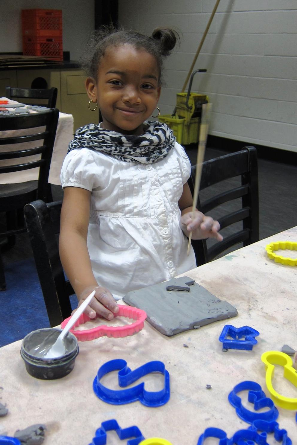 Tile Making Workshop at Lenfest