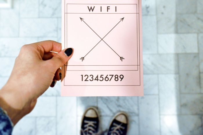 """How to Prepare for Houseguests + Free Wifi Printable"""