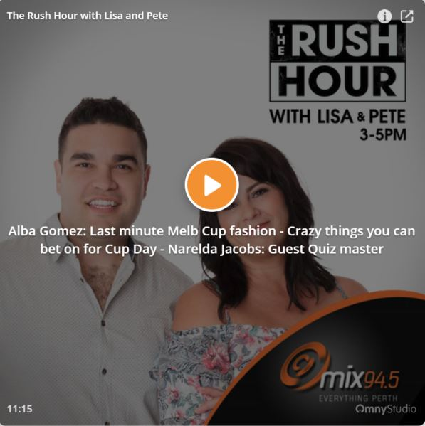The Rush Hour | November 2017   Melbourne Cup Fashion is a big deal and I chatted to Lisa and Pete over at Perth's 94.5FM. These tips are useful for any big day out to ensure you are stylish.