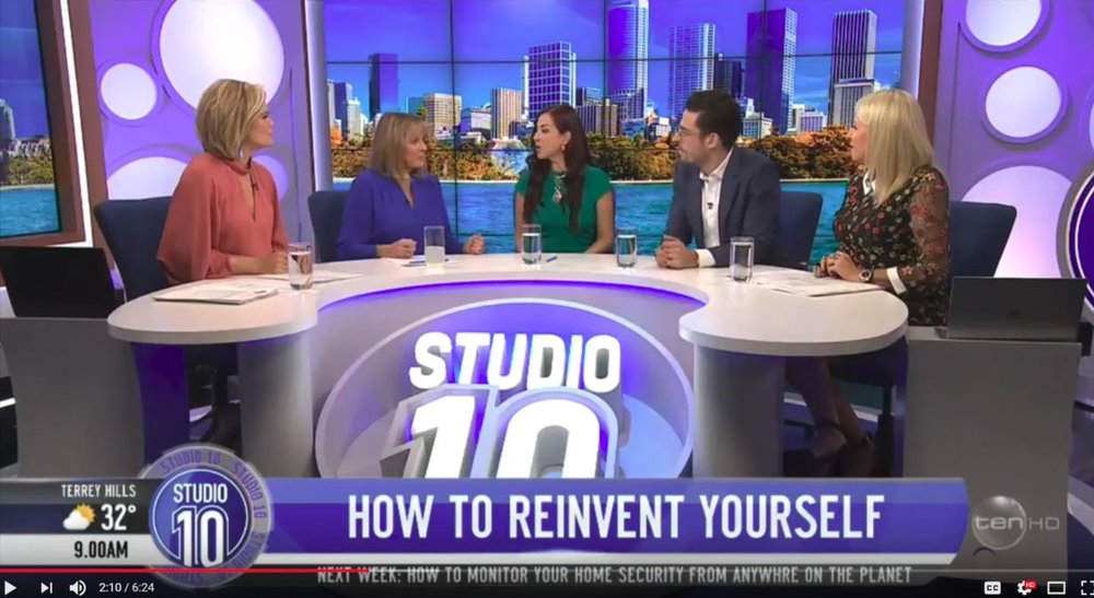 Studio 10 | April 2018   I have gone through many transformations in my life and in this interview with Studio 10 I share about my journey and how I re-invented myself and how you can too.