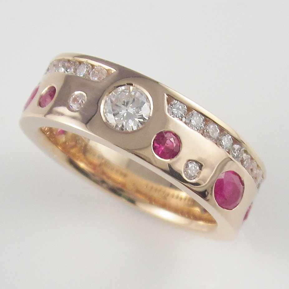 Rose gold and Rubies