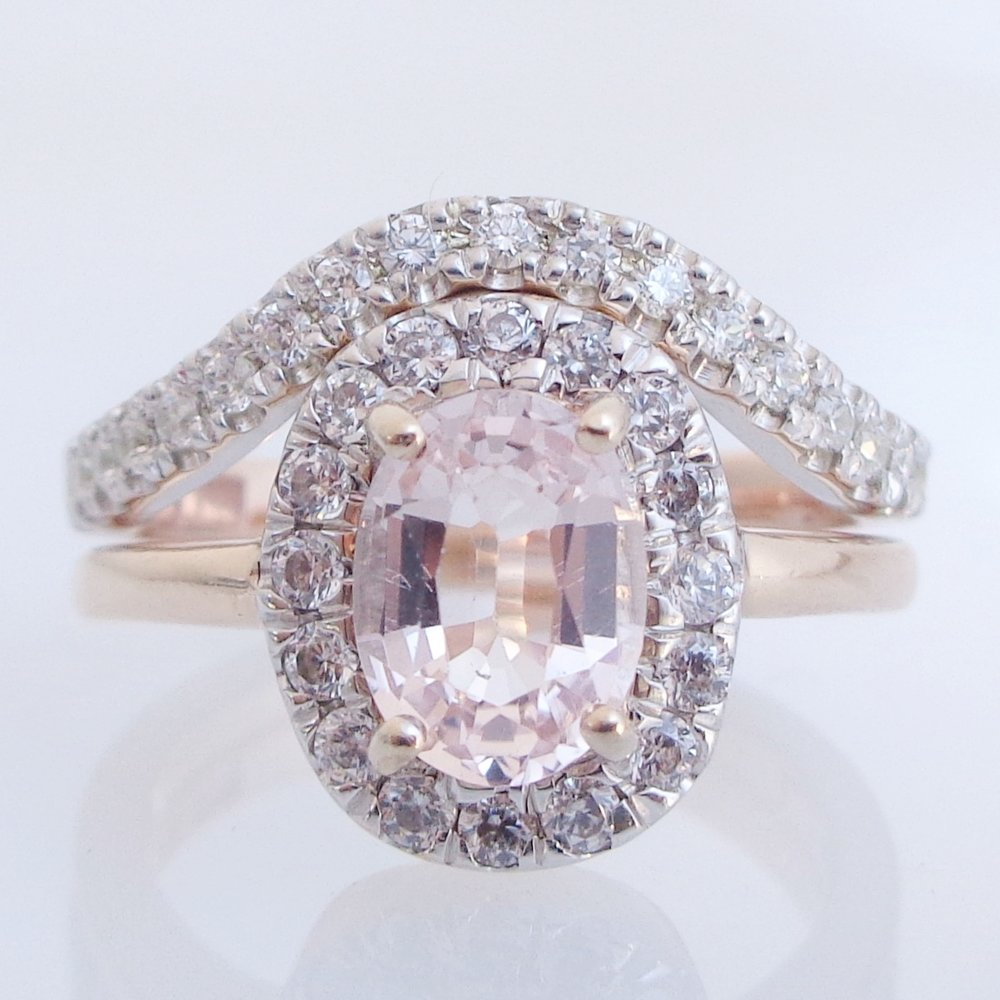 Diamonds and morganite
