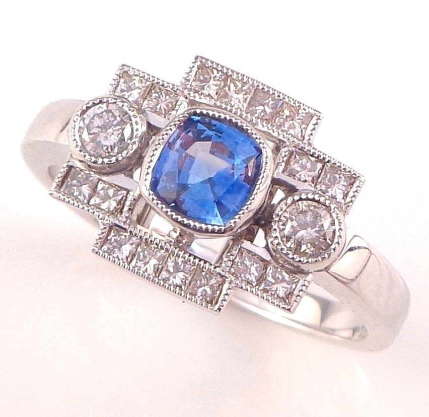 Art Deco Sapphire & Diamonds