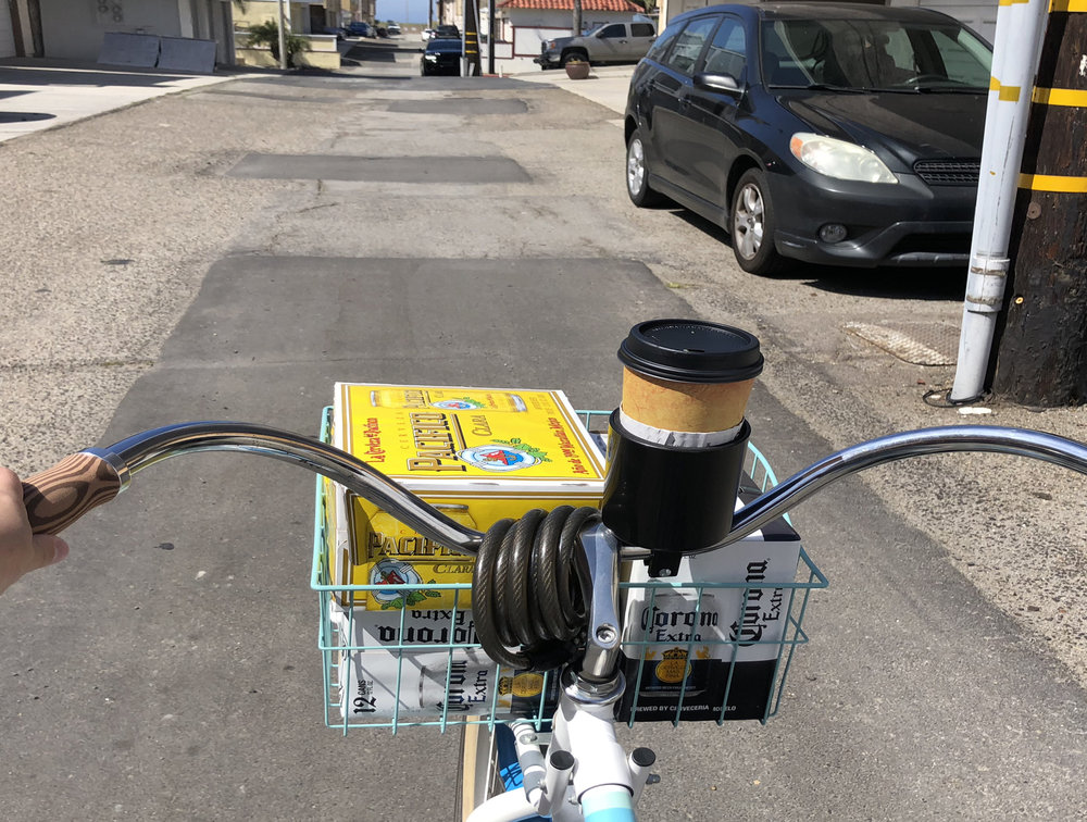 bike basket beer