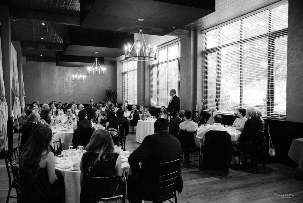 Callum_and_Sara's_Wedding_at_the_Cork_Factory_Hotel_in_Lancaster-Part_Eight_Dinner_and_Speeches_Black_and_White_Watermarked-25.jpg