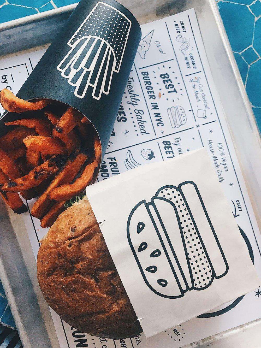Vegan Burger and Fries!