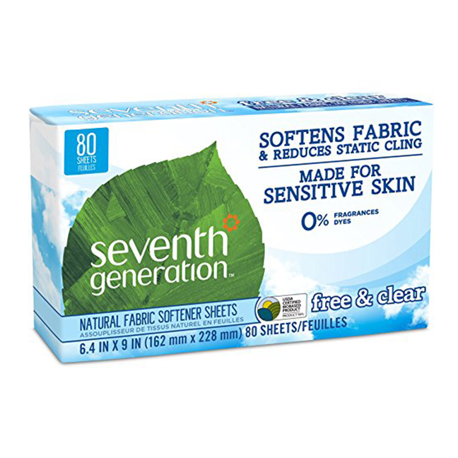 Seventh Generation dryer sheets -