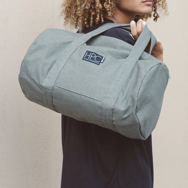 Duffel Bag made from recycled plasic water bottles -