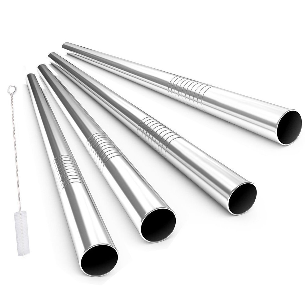 Wide Metal Smoothie straws -