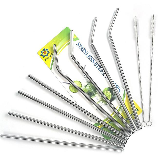 Bent Metal Straws -