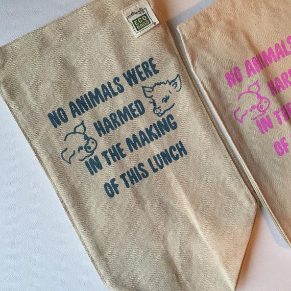 Vegan Printed Lunch Bag -