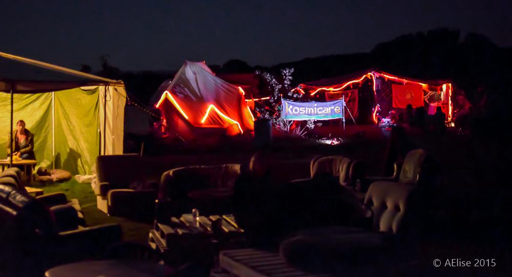 Kosmicare tent on Friday evening - Picture AElisePhotographyUK