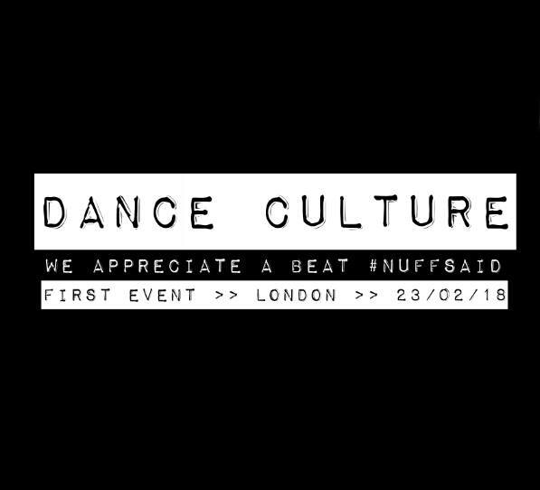 Dance Culture. Because not everyone goes out to dance to good music. We appreciate a beat. Nuff said. Interactive multi-media online magazine. International. Click on the image above to link to The Facebook Group