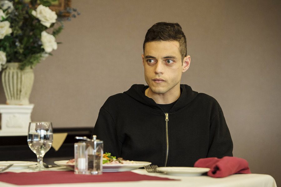 Pictured: Rami Malek as Elliot Alderson (Photo credit: David Giesbrecht/USA Network)