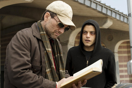 Christian Slater and Malek in  Mr. Robot .   David Giesbrecht / USA Network