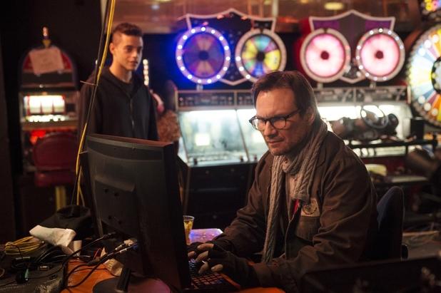 Rami Malek & Christian Slater in Mr Robot.  USA Network