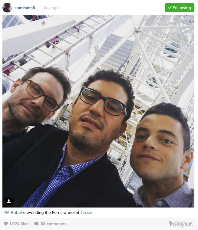 Sam Esmail's Instagram