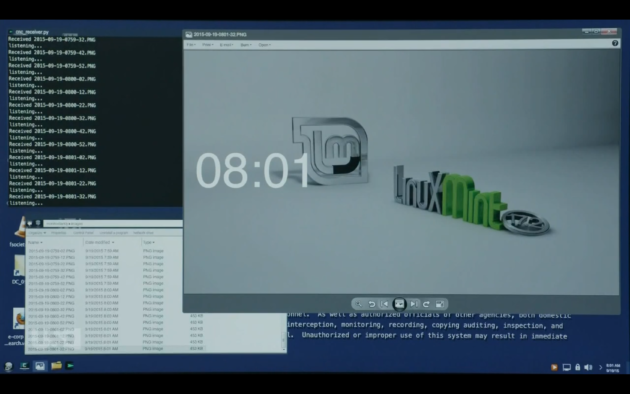 Figure 7: Dom's view of Elliot's hacked computer.  (USA Network)