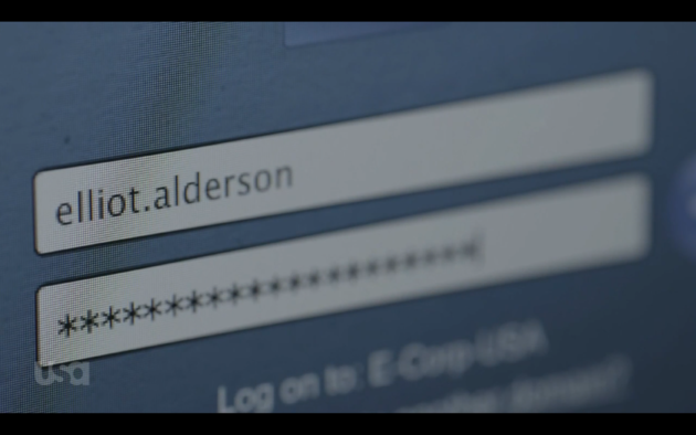 Figure 12: Elliot's long and secure password.  (USA Network)