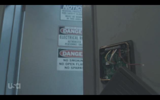 Figure 4: Mr. Robot hijacked a key reader.  (USA Network)