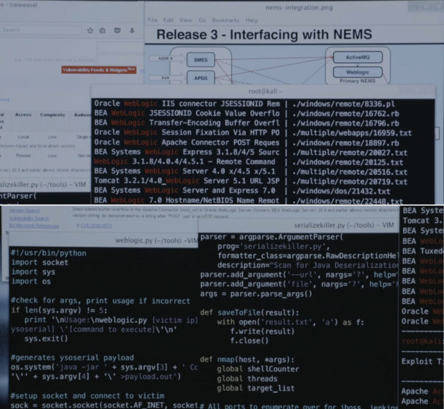 Figure 4: Trenton's scripts screen.  (USA Network)