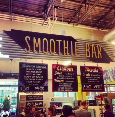 Smoothie Bar at Whole Foods Midtown
