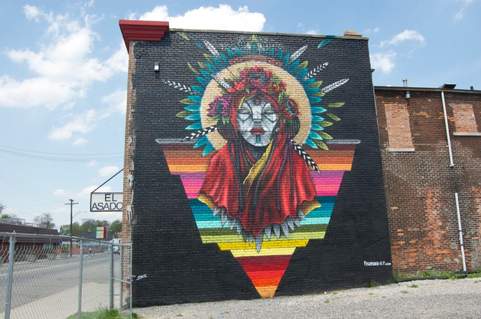 While in Southwest Detroit, check out the mural series curated by 1xrun last year for Cinco De Mayo