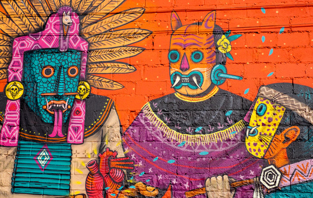 Saner Mural In Southwest Detroit For 1xRUN Residency
