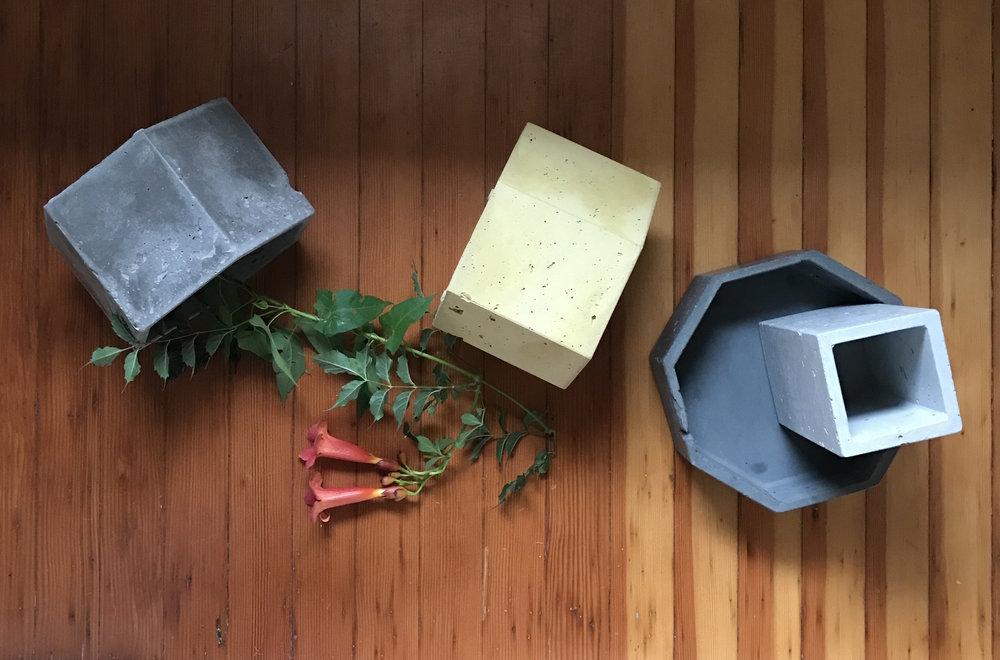 Concrete Vessels by Line Studio