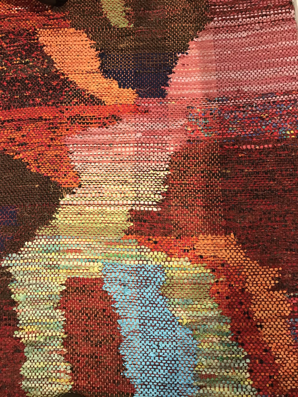 Detail of Cienfuegos Rug by Paula Schubatis