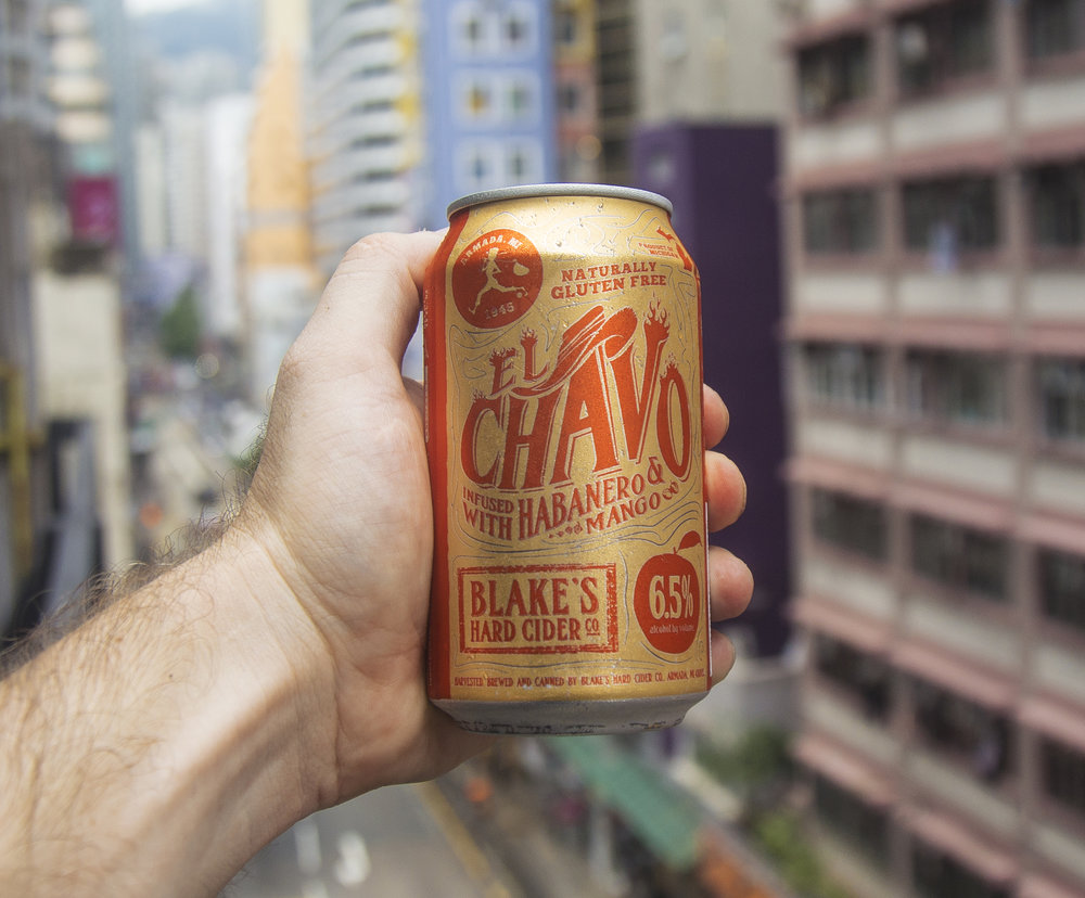 El Chavo Hard Cider via Adam Yarbrough of Blake's Hard Cider.