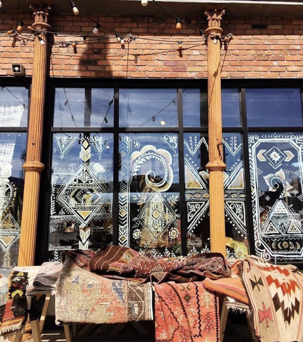 The Good Rug outside of Eldorado General Store via @thegoodrug