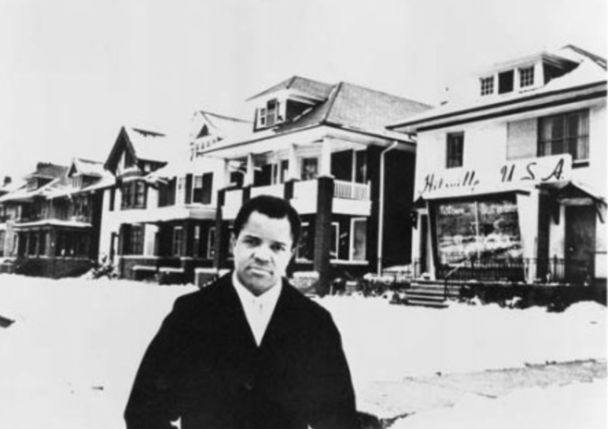Berry Gordy, Founder of Motown Records in front of his original recording studio via Pinterest