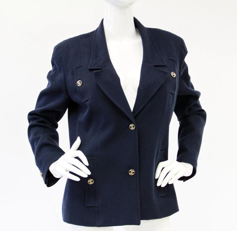 Vintage 1980's Chanel Blazer. Current Bid Price $113.