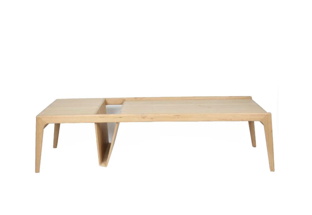 "Modern Style ""Mag"" Oak Coffee Table by Ali Sandifer. Current Bid Price: $211."
