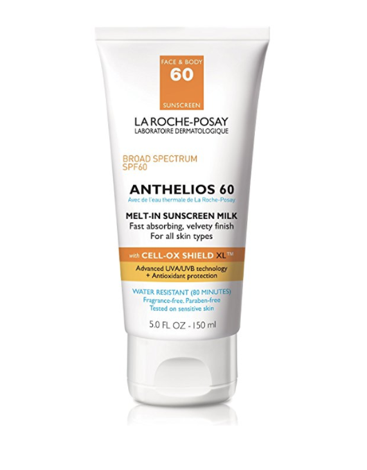 La Roche-Posay Anthelios. Some of THE BEST sunscreen. via Amazon.  Linked here.