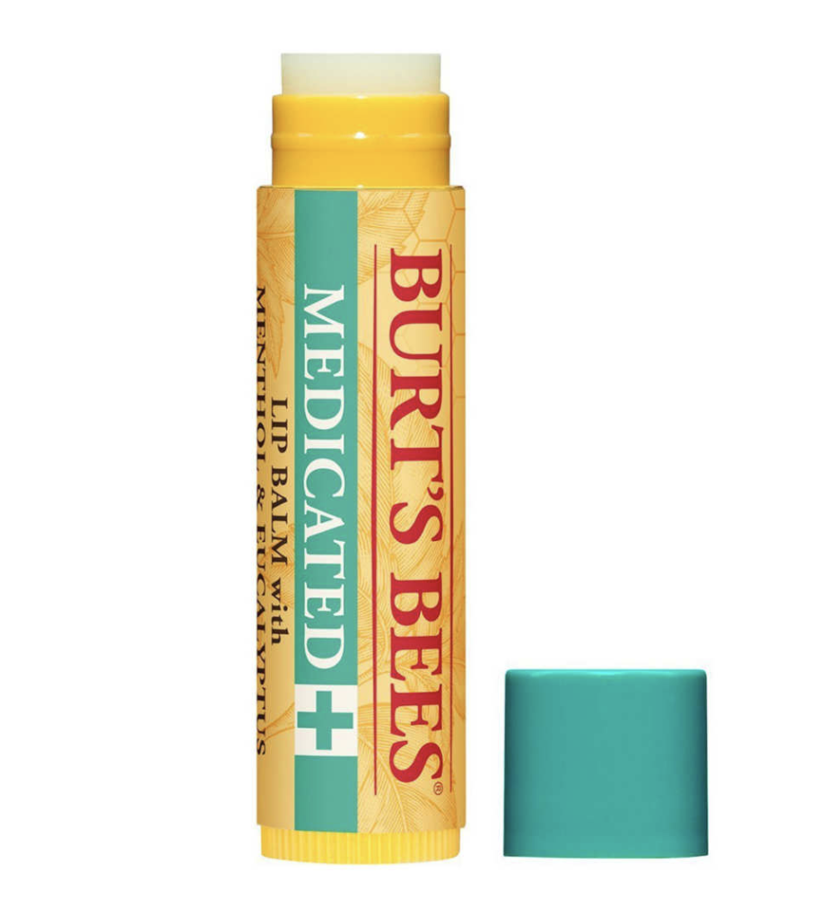 Burt's Bees 100% natural medicated moisturizing lip balm. via Amazon.  Linked here.