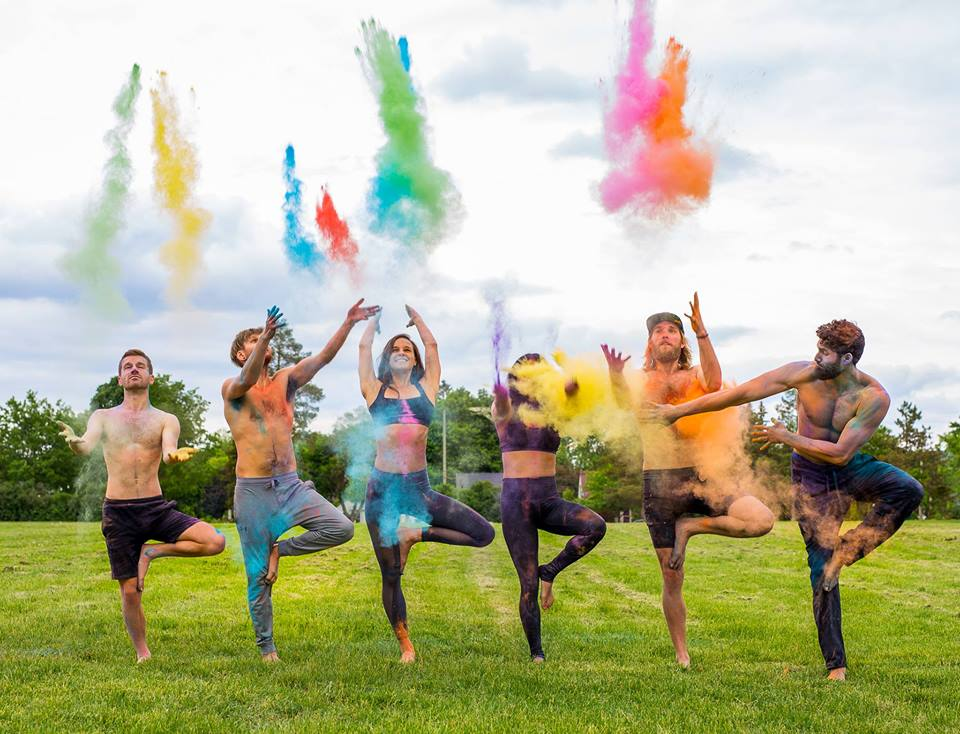 Have fun with color while stretching your body at Flow in Color. Photo found via @sanghaexperience on Facebook