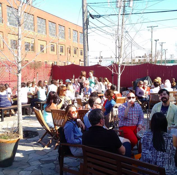 The patio at Motor City Wine. Photo Credits instagram  @motorcitywine