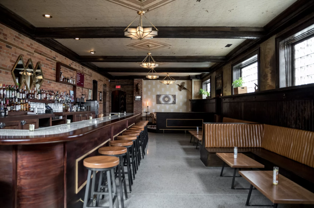 Inside of Kiesling via Eater Detroit