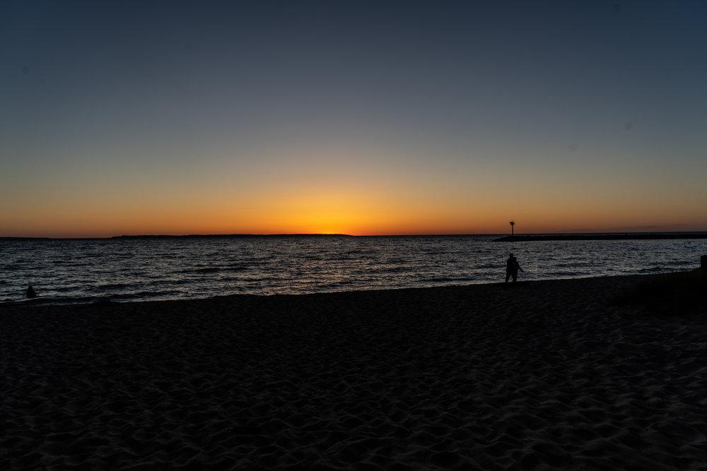Sunset at Van's Beach #nofilter