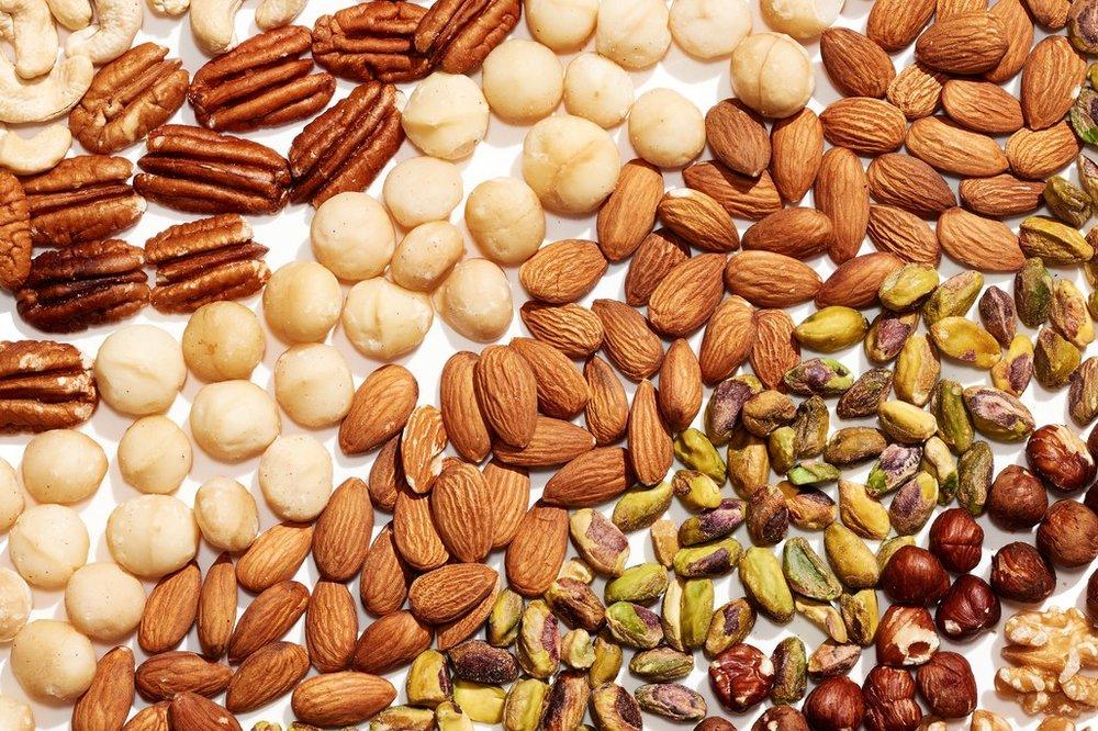 Nuts are Vitamin E superstars, tbh. Photo via Ted Cavanaugh