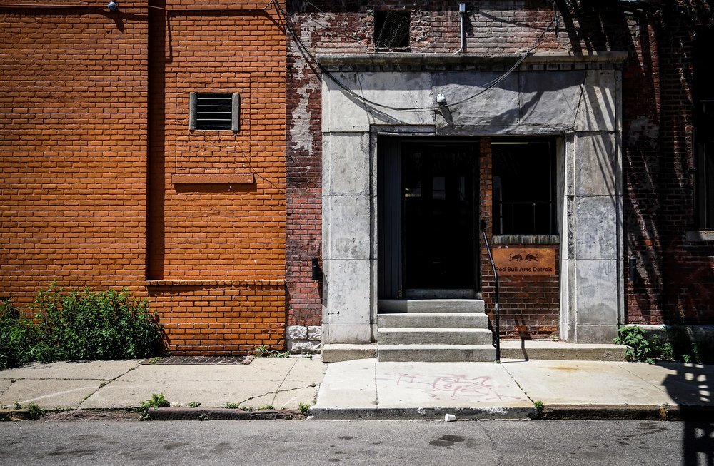 The exterior of Red Bull Arts Detroit. Photo via  Red Bull Arts Detroit