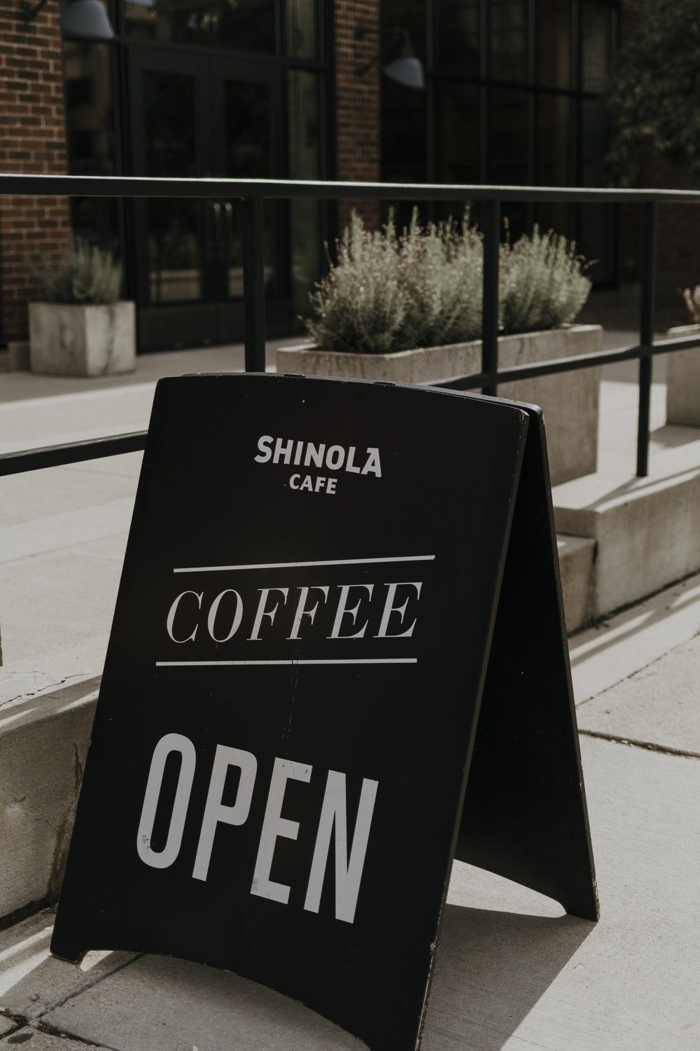 Why not pregame for the opening of the  @shinolahotel  with a sweet cafe drink from  @shinola . photo credits  @danielalisi