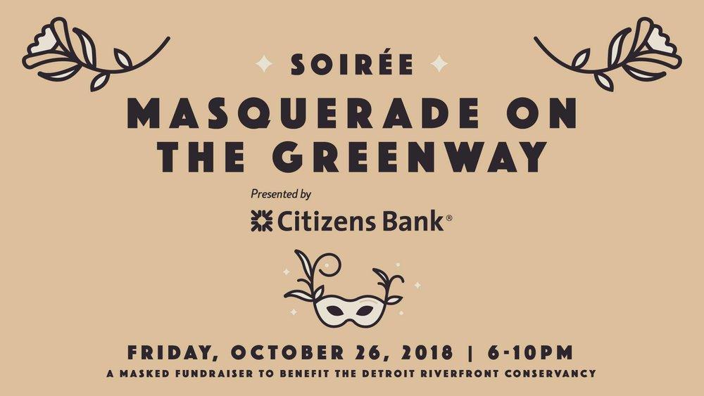Flyer via  Soirée: Masquerade on the Greenway  on Facebook