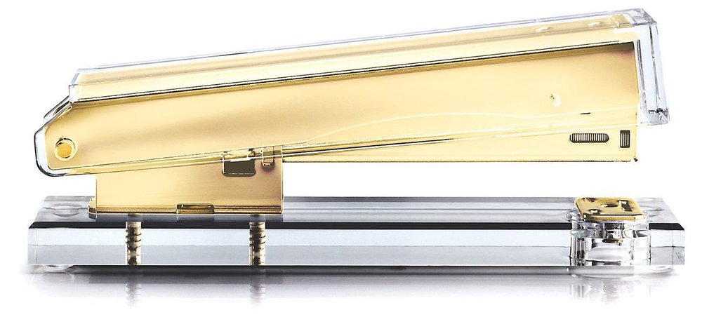 russel + hazel acrylic gold stapler weekly edit