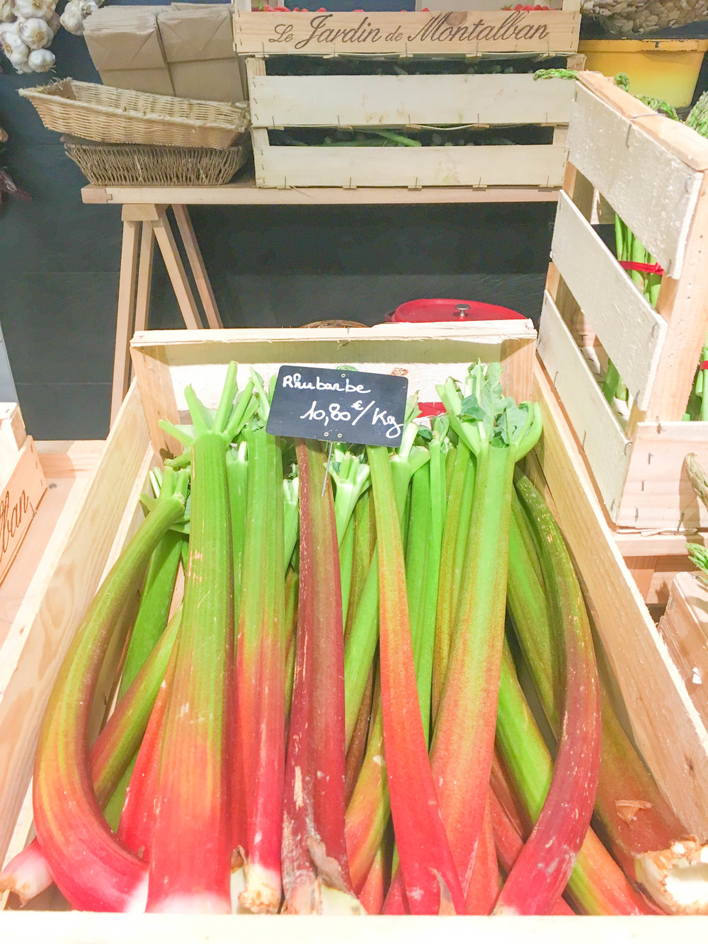 Rhubarb at Marche Saint-Germain in Paris
