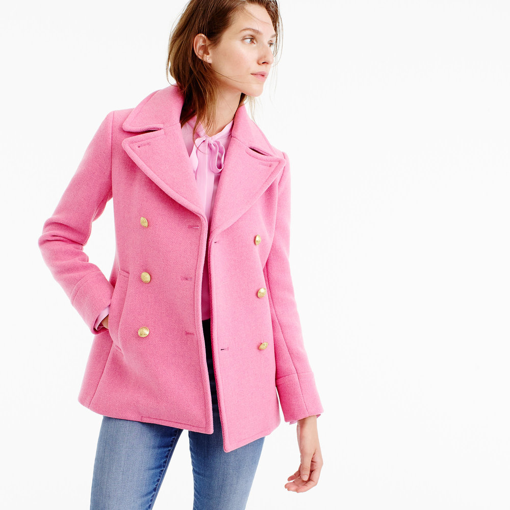 Pink Peacoat | The Weekly Edit
