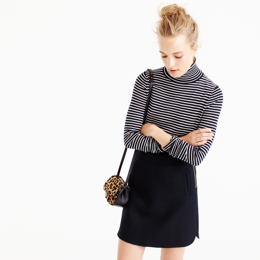 Striped Turtleneck Sweater | The Weekly Edit